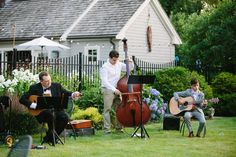 Elegant garden wedding with acoustic band   Photo credit: Catalina Ayubi http://catalinaayubi.com