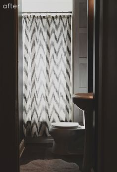 Chevron Shower Curtain from west elm via @Design*Sponge