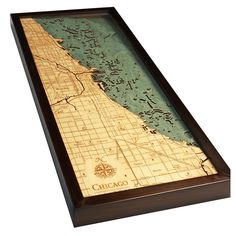 Below the Boat - Chicago Wood Maps