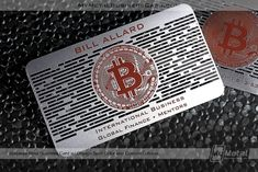Our Starter Pack is 100 Stainless Steel Metal Business Cards People Will Never Forget. All of Our Orders Include Fast Shipping And We Have In-House Designers To Design You A Custom Card That Everyone Will Envy. Metal Business Cards, Plastic Card, Bitcoin Cryptocurrency, World Leaders, Custom Cards, Infographic, Custom Design, Packing, Creative