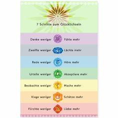 25% OFF nur Heute 30.11. 7 Schritte zum Glücklichsein Übungsanleitung #yogamehappy #yogaposter