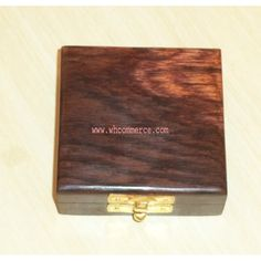 Rosewood Box for Single Coin / Wooden Coin Box
