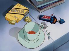 Read retro blue anime from the story themes ! Manga Anime, Old Anime, Anime Guys, Anime Art, Aesthetic Images, Retro Aesthetic, Aesthetic Anime, Aesthetic Coffee, Cartoon Cartoon