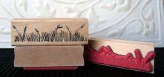 Grass rubber stamp from oldislandstamps by oldislandstamps.