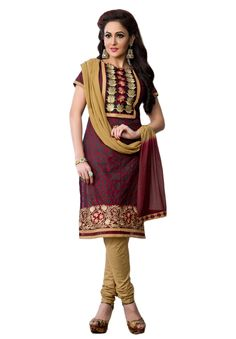 #Maroon #Beige #Dresmaterail #Casualwear #Officewear #Occasionalwear buy at salwarstudio.com