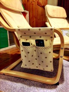 Remote control holder for ikea poang childrens chair (as requested by my eldest baby!)                                                                                                                                                                                 More