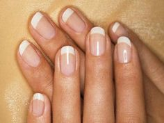 French Manicure Natural Acrylic Nails, Gel Polish Colors, French Nails, Diy Beauty, White Gold, Make Up, Nail Art, Manicures, Tutorials