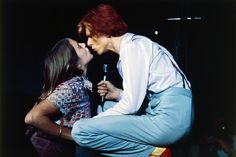 1970s Photograph - Bowie Kissing A Fan  by Terry ONeill