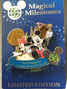 35 Magical Years Mickey & Minnie Celebrate Happiest Celebration on Earth Limited Edition Pin