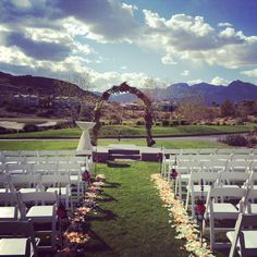 Amazing Sky And Wedding Ceremony Site Gina Putnam Red Rock Country Club Weddings