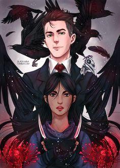"@black-hana.tumblr.com: "" Inej & Kaz from Six of Crows I need Crooked Kingdom, RIGHT NOW"