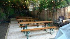 Garden Patio Sets, Garden Table, Patio Table, Garden Venue, Patio Bar, Garden Ideas, Outdoor Restaurant Patio, Outdoor Cafe, Outdoor Dining