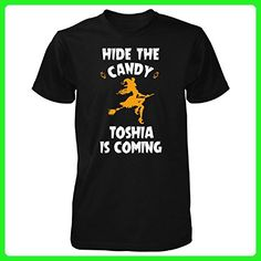 Hide The Candy Toshia Is Coming Halloween Gift - Unisex Tshirt Black L - Holiday and seasonal shirts (*Amazon Partner-Link)