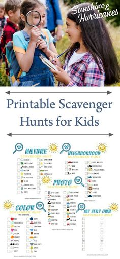 Printable Scavenger Hunt For Kids Set. #ScavengerHunt #ScavengerHuntforKids #KidsActivities #ScreenFreeActivitiesforKids #Kids #Printable #FREEPrintables #PrintableScavengerHunt #PhotoScavengerHunt #NatureScavengerHunt #NeighborhoodScavengerHunt #ColorScavengerHunt #DIYScavengerHunt #SummerActivitesforKids #RainyDayActivitesforKids #EducationalActivitesforKids #FunforKids #FamilyActivities Summer Fun For Kids, Free Summer, Summer Activities For Kids, Cool Kids, Parenting Articles, Parenting Teens, Parenting Hacks, Kids Outdoor Play, Scavenger Hunt For Kids
