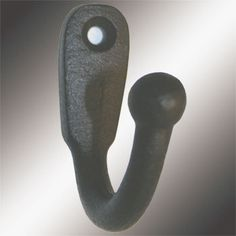 #WroughtIronCoatHook. Our Coat Hook is most popular in entryways for coats, on bathroom doors for towels and robes. Our exclusive RSF coating protects this item for years to come. They look fantastic in either a contemporary bath and kitchen or Victorian Hallway. Crafted of hand-forged wrought Iron.