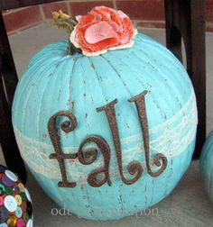 Shabby Chic Fall Pumpkin Design