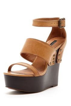 Baila Leather Wedge Sandal