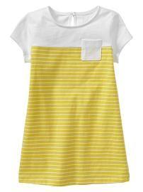 Stripe T-shirt dress -- make one like this for tay.