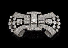 A diamond bow brooch, by Hagneaux, circa 1935