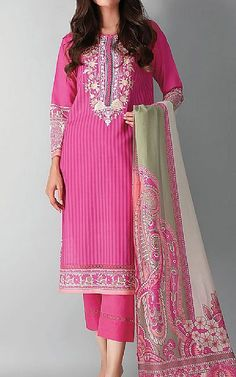 Pakistani Dresses Online Shopping, Suits Online Shopping, Famous Clothing Brands, Pakistani Lawn Suits, Pakistani Designers, Clothes For Sale, Hot Pink, Fashion Dresses, Indian