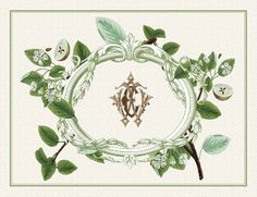 """Jennings & Gates: Notes from a Virginia Country House™: """"Hello, Gorgeous! Embroidery Monogram, Vintage Embroidery, Embroidery Designs, Placemat Design, Green Home Decor, Vintage Monogram, Monogram Design, Stationery Paper, Hello Gorgeous"""