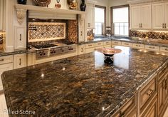 Kitchen Island   Material: Multicolor Onyx · SoapstoneGranite CountertopsKitchen  IslandsHoustonDallasQuartz