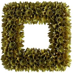 Wood Curl Wreath - Green | Pier 1 Imports