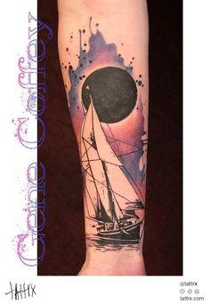 Gene Coffey Tattoo Culture Brooklyn - Sail Boat