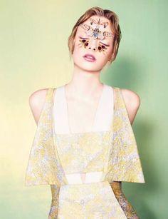 Bizarre Butterfly Beauty Looks - The Dazed & Confused June 2012 Editorial Stars Elza Luijendijk (GALLERY)