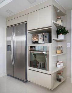 Um total de 0 defeitos 😍😍 Cozinha liiiinda, by 💖 . Kitchen Interior, New Kitchen, Home Interior Design, Kitchen Decor, Kitchen Cabinets, Kitchen Appliances, Cuisines Design, Minimalist Kitchen, Modern Kitchen Design
