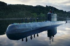 Norway's 6 Ula Class/ diesel-electric submarines were commissioned from and play an important role in their overall fleet. The design combined German design, sonar, and torpedoes with a French Thomson-CSF (now Thales) Sintra Electric Boat, Military Gear, Yellow Submarine, Navy Ships, Warfare, Coast, Anchors, World, Stamps