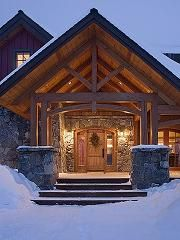 Custom doors compliment any log cabin...can't wait for winter to end