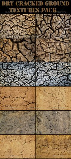Dry Cracked Ground — Photoshop PSD #barren #climate • Available here → https://graphicriver.net/item/dry-cracked-ground/411252?ref=pxcr