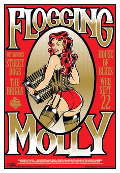 Flogging Molly gig poster 2 by StainboyReinel