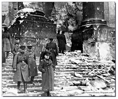 Zhukov in the ruins of reichstag, Berlin 1945