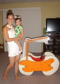 Submitted by Ashley B. Submitted by Ashley B. The post Submitted by Ashley B. appeared first on Halloween Costumes. Wagon Halloween Costumes, Wagon Costume, Family Costumes, Couple Halloween, Halloween Kids, Stroller Costume, Mother Daughter Costumes, Toddler Costumes, Pebbles Costume Toddler