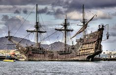 Blackbeard's Ship Queen Anne's Revenge | is a great photo of the Queen Anne's Revenge, Blackbeard's ship