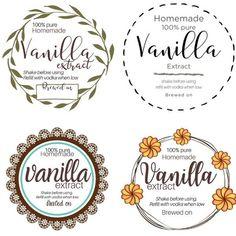 Vanilla Extract Recipe, Vanilla Recipes, Vanilla Flavoring, Christmas Party Favors, Diy Christmas Gifts, Christmas Treats, Free Printable Tags, Free Printables, Homemade Kahlua