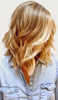 Inspiration discovered by Abbie. Warm blonde @bloomdotcom