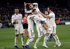 The victory means that Real Madrid are fourth in La Liga, 10 points behind Barcelona Soccer News, Sports Basketball, Sport Football, Real Madrid, Liga Soccer, Womens Sports Fashion, Sports Bra Outfit, Sports Wallpapers, Sports Pictures