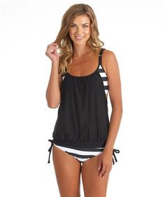 I love the �Next Lined Up Tankini Top and Tunnel Side Bikini Bottom�. Shop SwimSpot.com