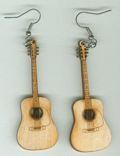 FREE SHIPPING Acoustic Guitar Earrings by SweetWaterSprings