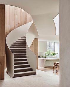 Interior Stair Railing, Staircase Design, Halle, Interior Architecture, Interior Design, Stairs Architecture, Melbourne House, Australian Homes, House Built