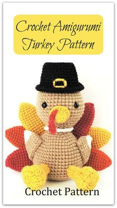 Crochet Turkey Pattern, Crochet Thanksgiving Pattern, Amigurumi Turkey Pattern, Fall Crochet Pattern, Thanksgiving Amigurumi, PDF Tutorial #ad #affiliate