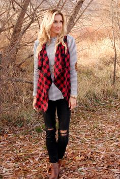 Luxe Buffalo Plaid Vest