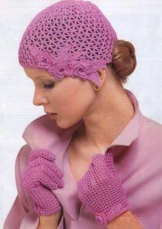 Beautiful crochet hat Pattern in diagram. Crochet Santa Hat, Crochet Gloves, Freeform Crochet, Crochet Beanie, Knit Or Crochet, Crochet Scarves, Crochet Crafts, Crochet Projects, Free Crochet