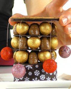 Xmas chocolate tower dessert - Online course