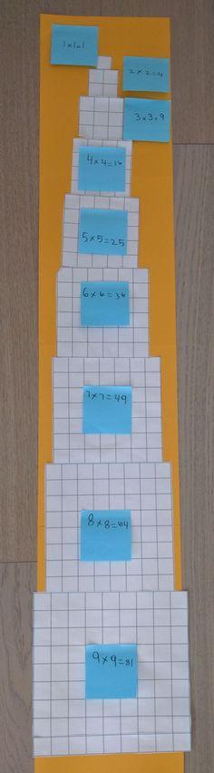 Square Number Skyscrapers - multiplication arrays #mathtutor #teachingkidsmath