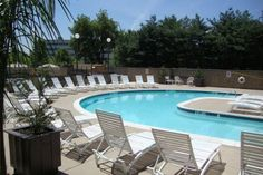 After a day of Bucks County sightseeing and fun, relax at the Radisson Hotel Philadelphia Northeast's luxurious outdoor pool before resting your head.