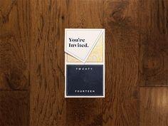 Ginder + Wright Wedding invitation | Designer: Jason Wright